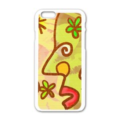 Abstract Faces Abstract Spiral Apple Iphone 6/6s White Enamel Case by Amaryn4rt