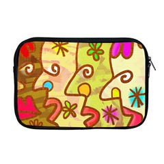Abstract Faces Abstract Spiral Apple Macbook Pro 17  Zipper Case by Amaryn4rt