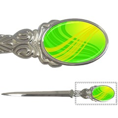 Abstract Green Yellow Background Letter Openers by Amaryn4rt