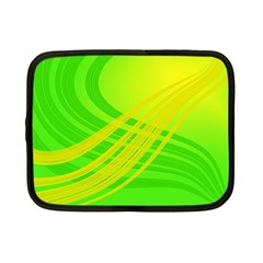 Abstract Green Yellow Background Netbook Case (small)