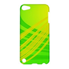 Abstract Green Yellow Background Apple Ipod Touch 5 Hardshell Case