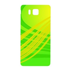 Abstract Green Yellow Background Samsung Galaxy Alpha Hardshell Back Case by Amaryn4rt