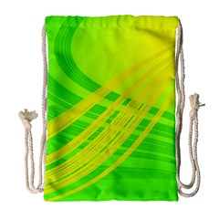 Abstract Green Yellow Background Drawstring Bag (large) by Amaryn4rt