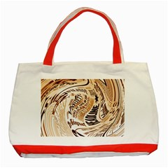 Abstract Newspaper Background Classic Tote Bag (red) by Amaryn4rt