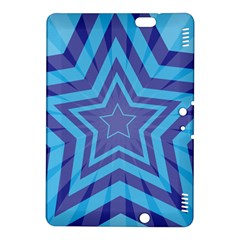Abstract Starburst Blue Star Kindle Fire Hdx 8 9  Hardshell Case by Amaryn4rt