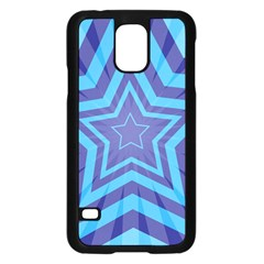 Abstract Starburst Blue Star Samsung Galaxy S5 Case (black) by Amaryn4rt