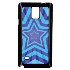 Abstract Starburst Blue Star Samsung Galaxy Note 4 Case (black) by Amaryn4rt