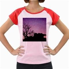 Arches National Park Night Women s Cap Sleeve T Shirt