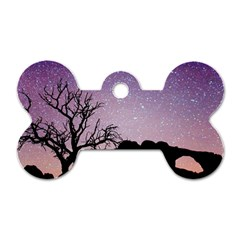 Arches National Park Night Dog Tag Bone (two Sides)