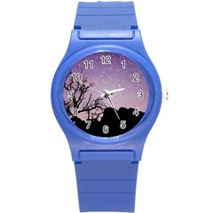 Arches National Park Night Round Plastic Sport Watch (s) by Amaryn4rt
