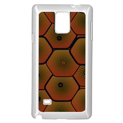 Art Psychedelic Pattern Samsung Galaxy Note 4 Case (White) by Amaryn4rt