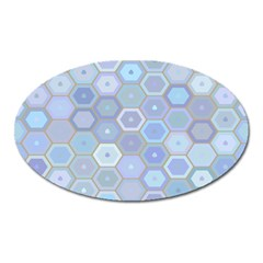 Bee Hive Background Oval Magnet by Amaryn4rt