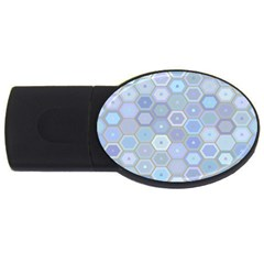 Bee Hive Background Usb Flash Drive Oval (4 Gb) by Amaryn4rt