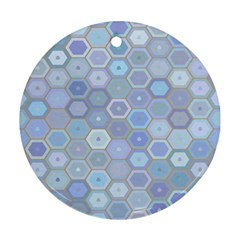 Bee Hive Background Round Ornament (two Sides) by Amaryn4rt