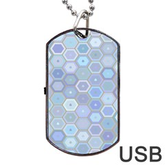 Bee Hive Background Dog Tag Usb Flash (one Side) by Amaryn4rt