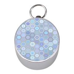 Bee Hive Background Mini Silver Compasses by Amaryn4rt