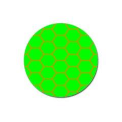 Bee Hive Texture Magnet 3  (round) by Amaryn4rt