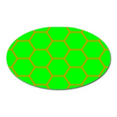 Bee Hive Texture Oval Magnet by Amaryn4rt
