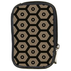 Black Bee Hive Texture Compact Camera Cases by Amaryn4rt