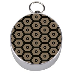 Black Bee Hive Texture Silver Compasses by Amaryn4rt