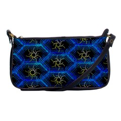 Blue Bee Hive Shoulder Clutch Bags by Amaryn4rt