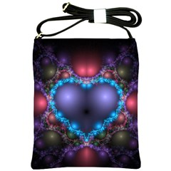 Blue Heart Shoulder Sling Bags by Amaryn4rt