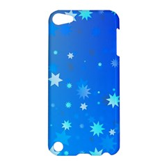 Blue Hot Pattern Blue Star Background Apple Ipod Touch 5 Hardshell Case