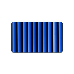 Blue Lines Background Magnet (name Card) by Amaryn4rt