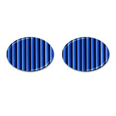 Blue Lines Background Cufflinks (oval) by Amaryn4rt