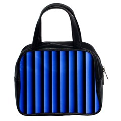 Blue Lines Background Classic Handbags (2 Sides) by Amaryn4rt