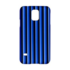 Blue Lines Background Samsung Galaxy S5 Hardshell Case  by Amaryn4rt