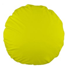 Yellow Color Large 18  Premium Round Cushions by Jojostore