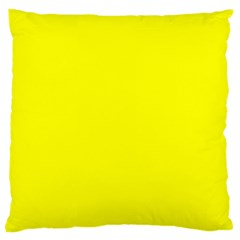 Yellow Color Standard Flano Cushion Case (one Side) by Jojostore