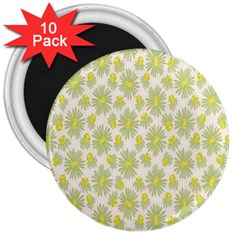 Another Supporting Tulip Flower Floral Yellow Gray 3  Magnets (10 Pack)  by Jojostore