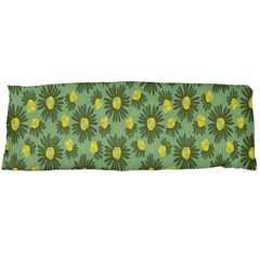 Another Supporting Tulip Flower Floral Yellow Gray Green Body Pillow Case Dakimakura (two Sides) by Jojostore