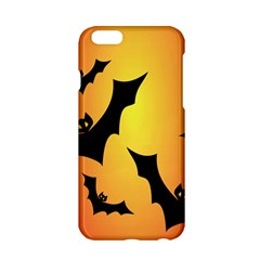Bats Orange Halloween Illustration Clipart Apple Iphone 6/6s Hardshell Case by Jojostore