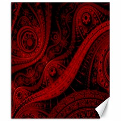 Batik Chevron Wave Free Red Canvas 20  X 24   by Jojostore