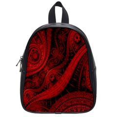 Batik Chevron Wave Free Red School Bags (small)  by Jojostore