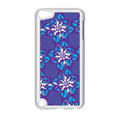 Analogous Blue Flower Apple Ipod Touch 5 Case (white) by Jojostore