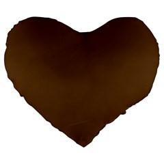 Brown Color Large 19  Premium Heart Shape Cushions by Jojostore