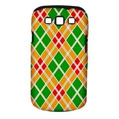 Chevron Wave Green Red Orange Line Samsung Galaxy S III Classic Hardshell Case (PC+Silicone) by Jojostore