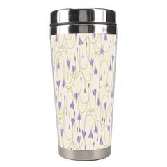 Flower Purple Stainless Steel Travel Tumblers by Jojostore