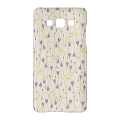 Flower Purple Samsung Galaxy A5 Hardshell Case  by Jojostore