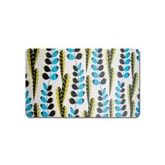 Flower Blue Magnet (Name Card) by Jojostore