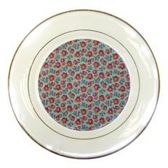 Fruit Flower Red Porcelain Plates by Jojostore