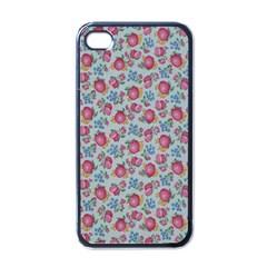 Fruit Flower Red Apple Iphone 4 Case (black) by Jojostore