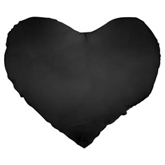Gray Color Large 19  Premium Flano Heart Shape Cushions by Jojostore