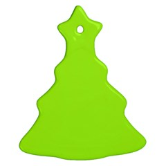 Green Color Christmas Tree Ornament (two Sides) by Jojostore