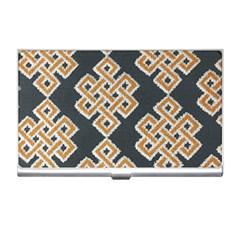 Geometric Cut Velvet Drapery Upholstery Fabric Business Card Holders by Jojostore
