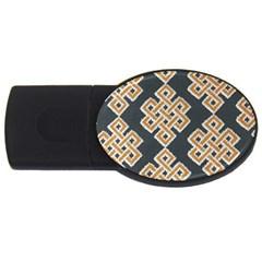 Geometric Cut Velvet Drapery Upholstery Fabric Usb Flash Drive Oval (4 Gb) by Jojostore